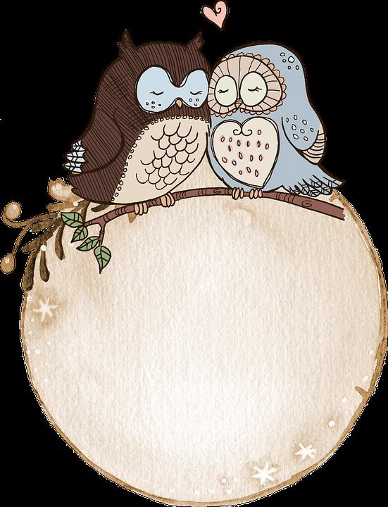 Label, Watercolor, Owl, Cute, Tag, Scrapbook
