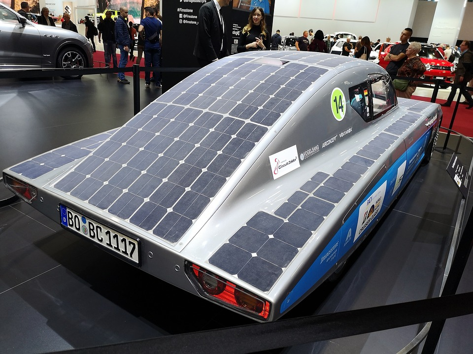 Auto, Solar Panels, Ecology, Environment, Modern, Own