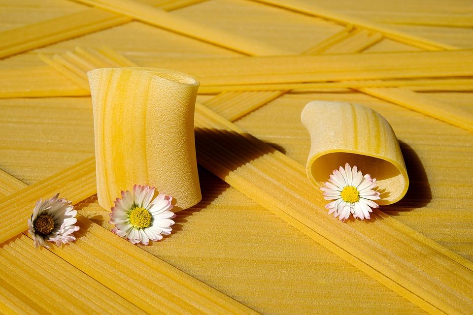 Noodles, Raw, Paccheri Giganti, Pasta, Yellow, Food