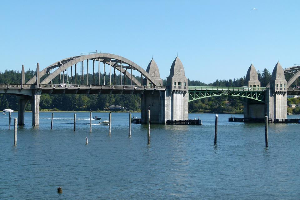 Florence, Bridge, Pacific, Shoreline, Usa