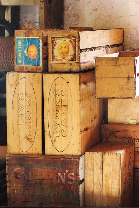 Boxes, Crates, Warehouse, Container, Package, Wooden