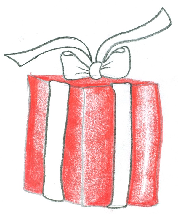 Christmas Gift, Christmas Eve, Packages, Pen, Drawing