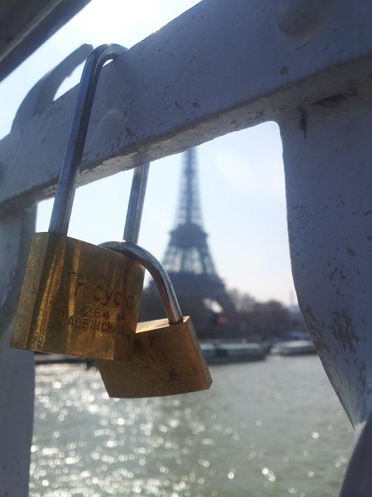 Paris, Bridge, Love Castle, Lovers, Its, Padlock, Pair