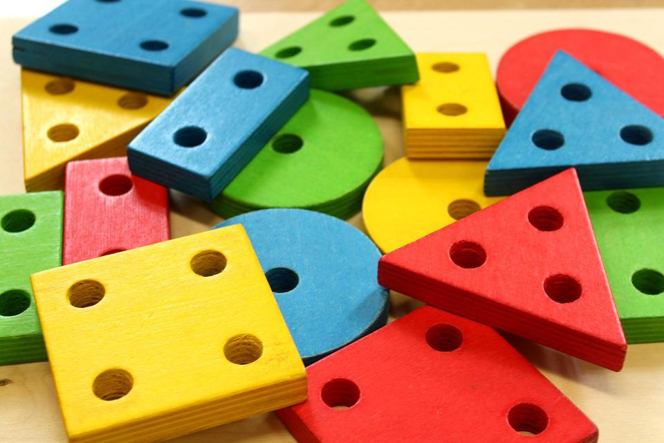 Pads, Education, Geometric Figures, Wooden, Toy