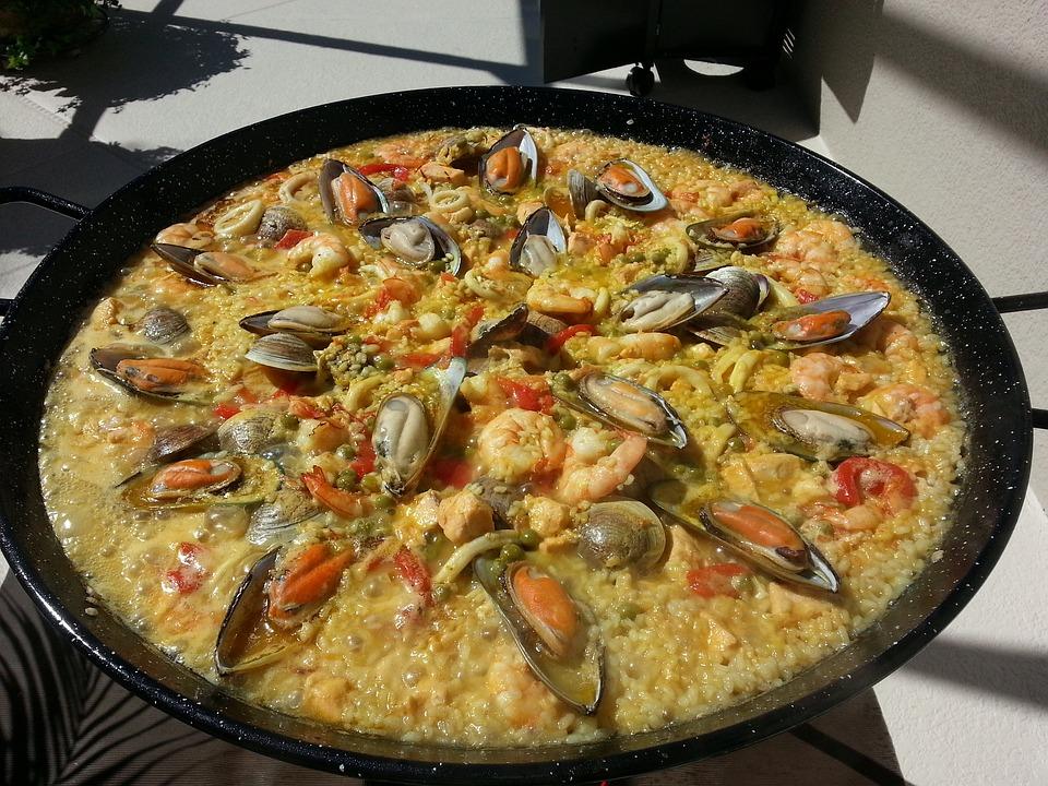 Rich Paella, Paella, Spanish Paella, Food, Fire, Spain