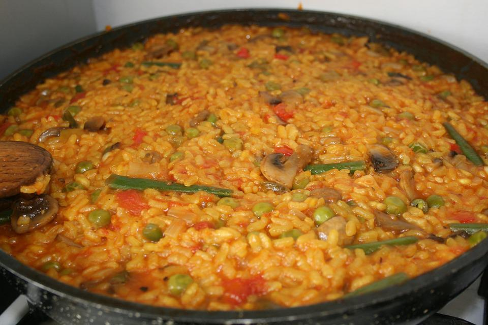 Paella, Vegetarian, Food, Spain