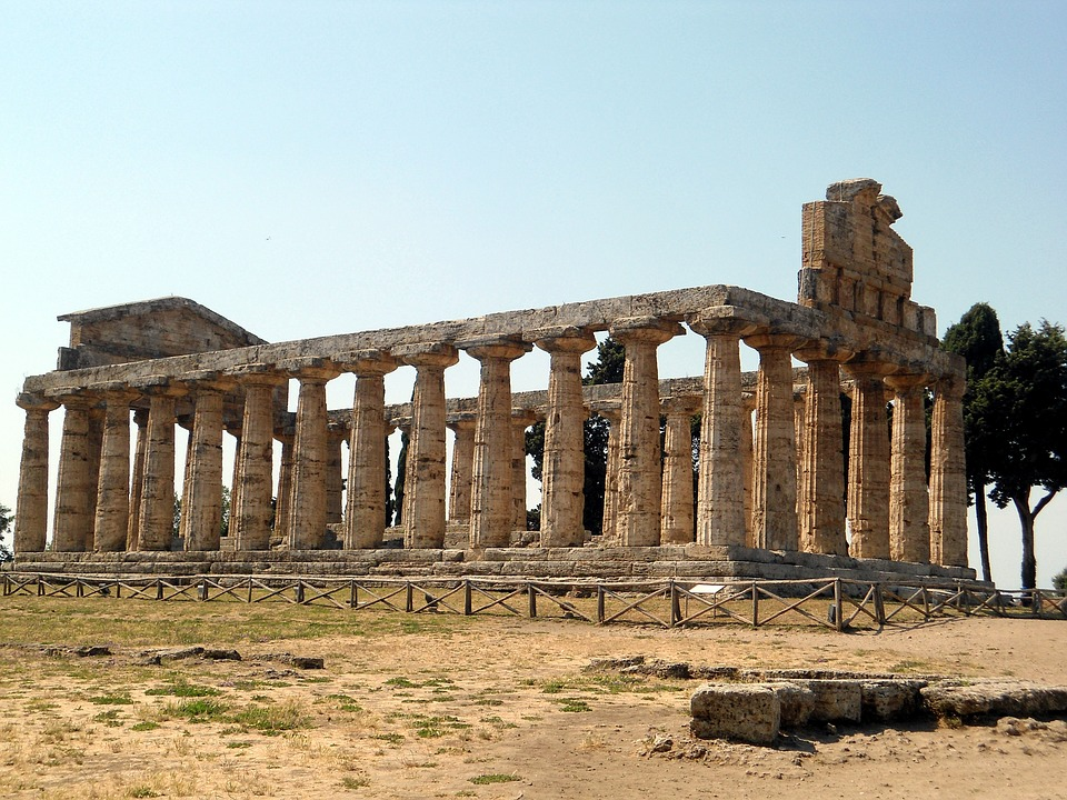 Paestum, Italy, Vacations, Antiquity, Temple