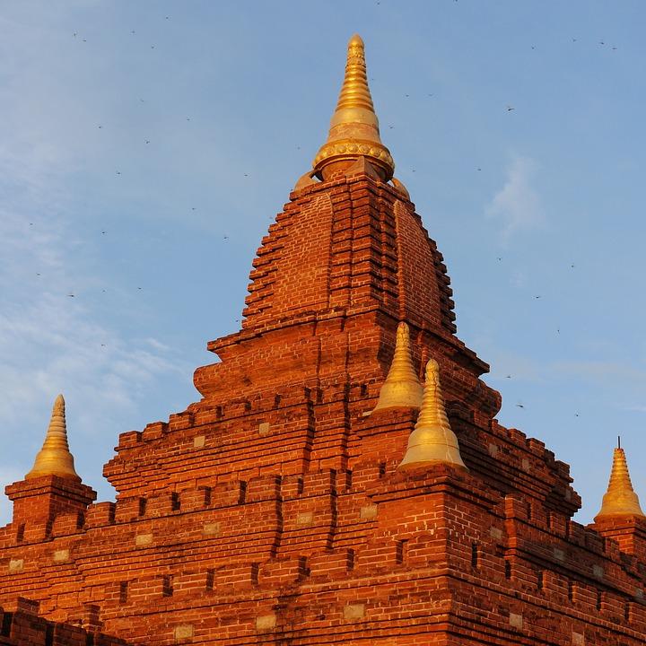 Pagoda, Bagan, Burma, Myanmar, Temple, Asia, Bricks