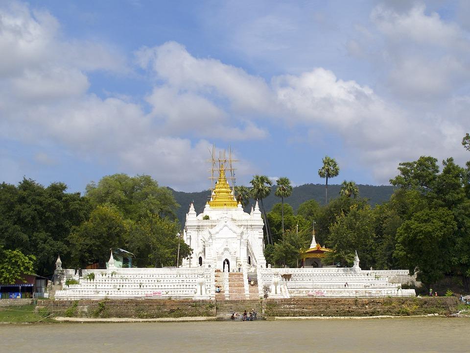Mingun, Burma, Pagoda, Temple