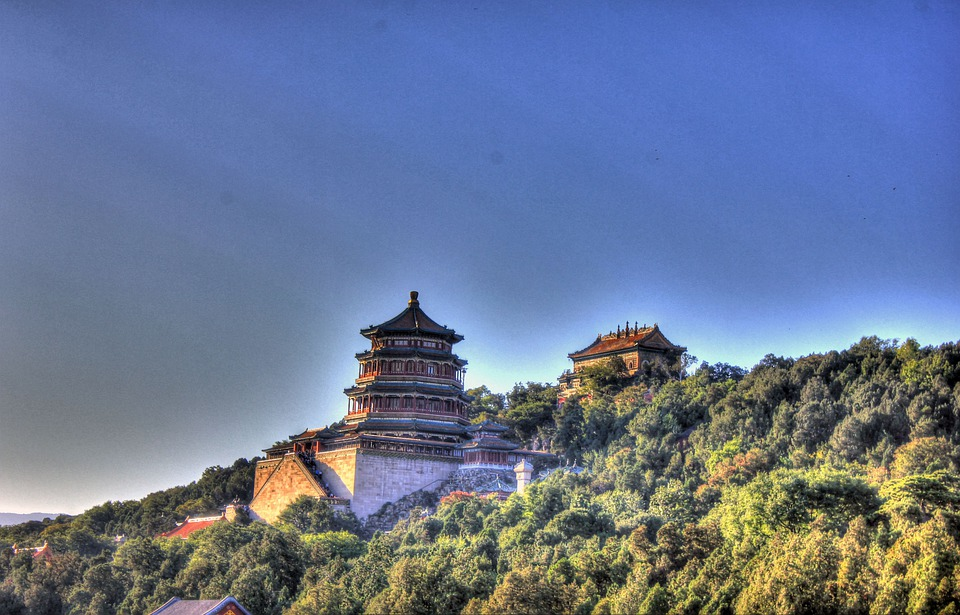 Temple, Trees, Hill, Mountain, Tower, Pagoda, Holy