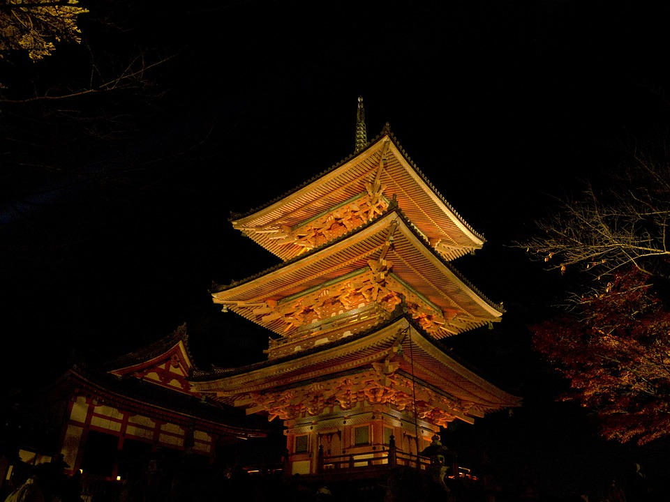 Pagoda, Japan, Kyoto, Architecture, Buddhist Temple