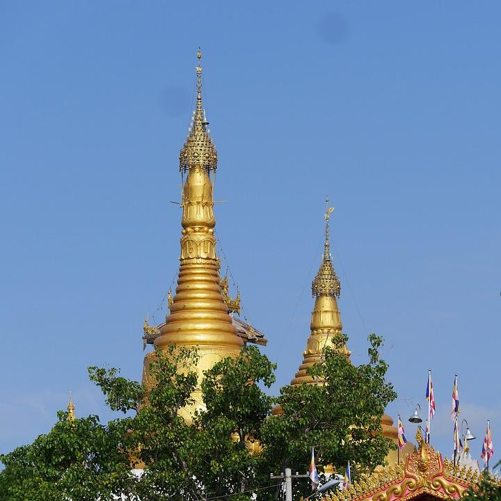 Stupa, Myanmar, Temple, Burma, Pagoda