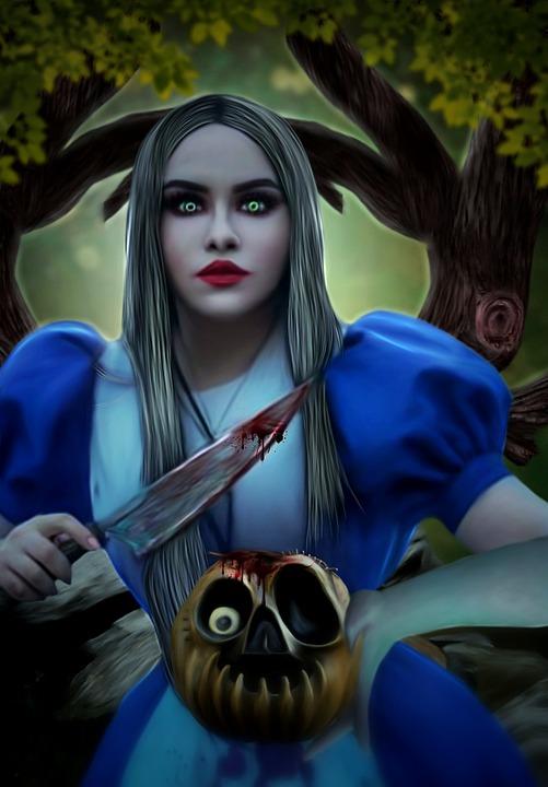 Perempuan, Muda, Kengerian, Kematian, Pai Labu, Pohon