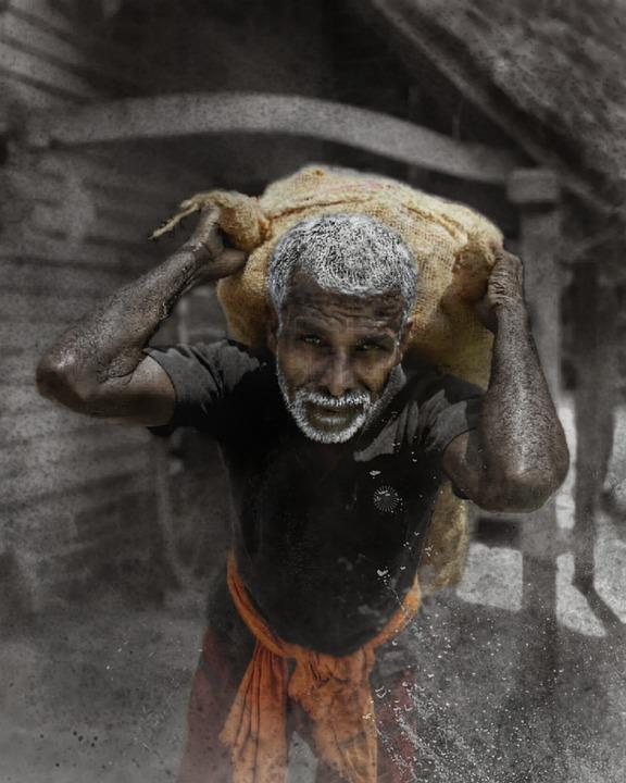 Labour, Pain, Humanity, Poor, Slave, Old Man, Task