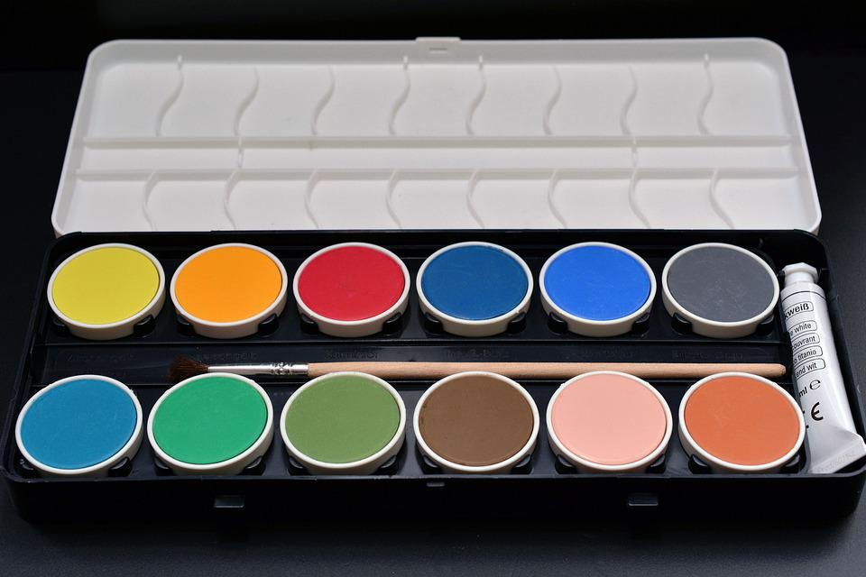 Paint Boxes, Malkasten, Paint, Color, Colorful