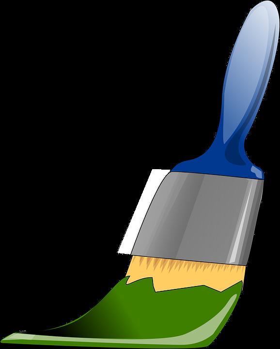 Brush, Paint, Green