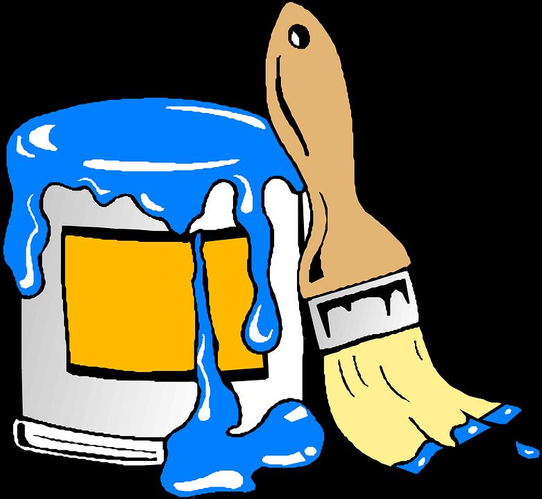 Brush, Paint, Blue, Can, Color, Painter, Paint Brush