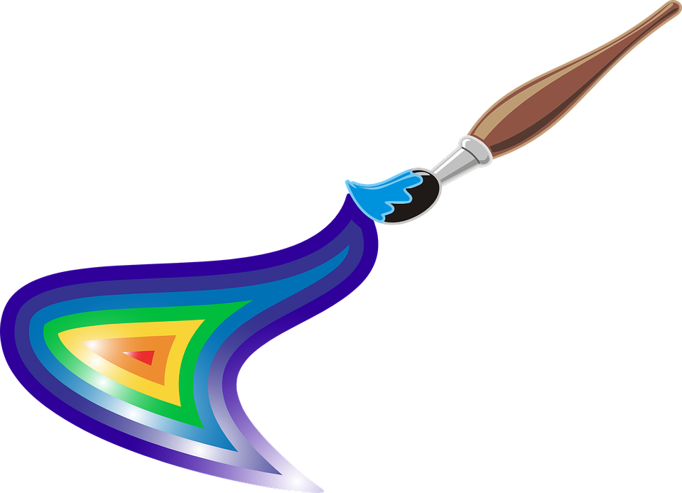 Artist, Brush, Colors, Rainbow, Roygbiv, Paint, Canvas