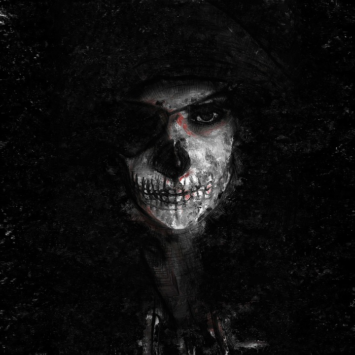 Face, Painting, Paint, Dark, Skull, Death, Scary, Mask