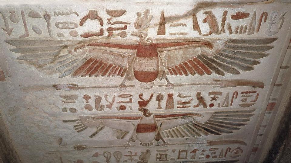 Hieroglyphics, Ancient, Egypt, Kom Ombo, Paint, Temple