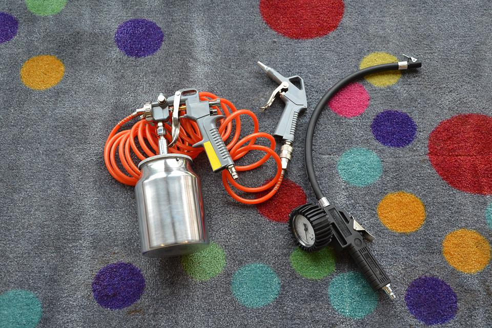 Compressor, Gun, Tool, Painting, Paint, Paint Tools