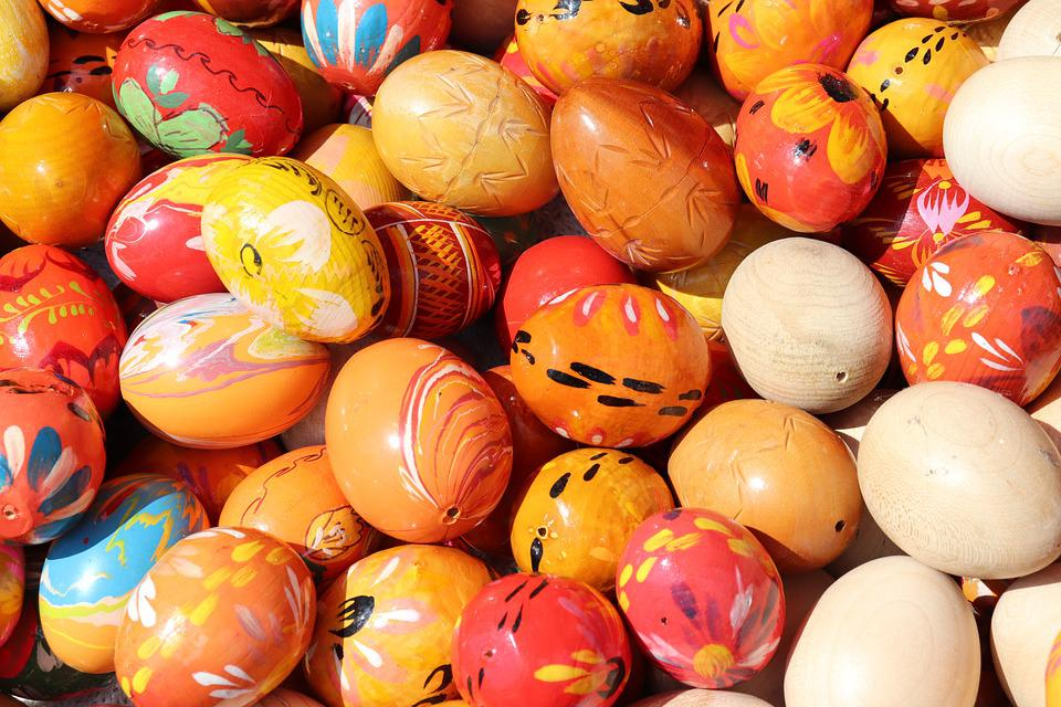 Easter Eggs, Colorful, Painted, Customs, Holiday