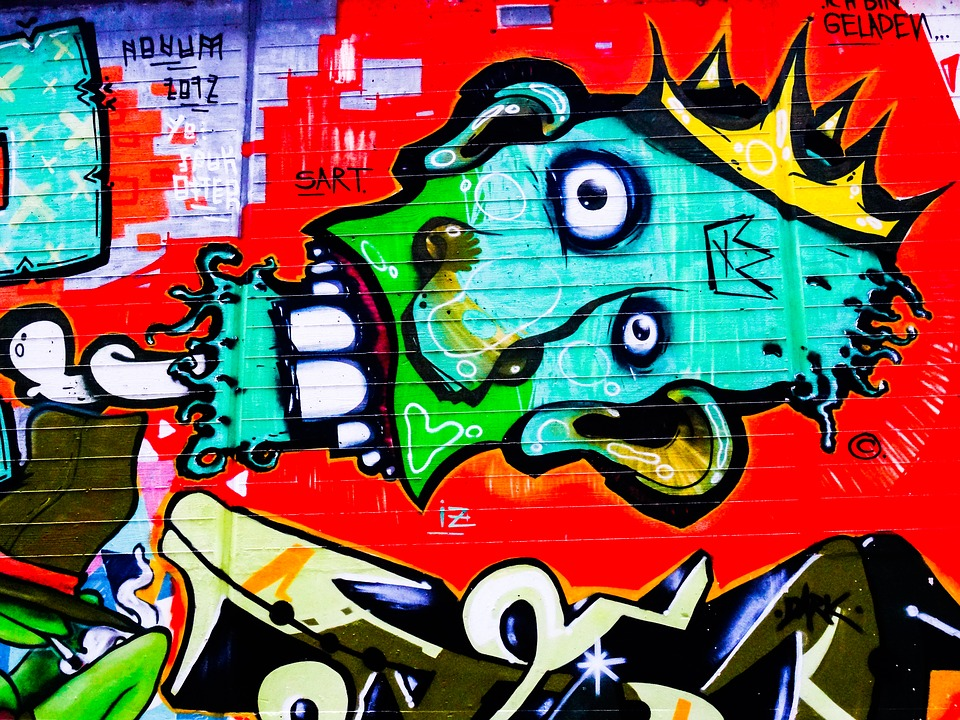 Graffiti, Decoration, Painted, Wall, Art, Red, Head