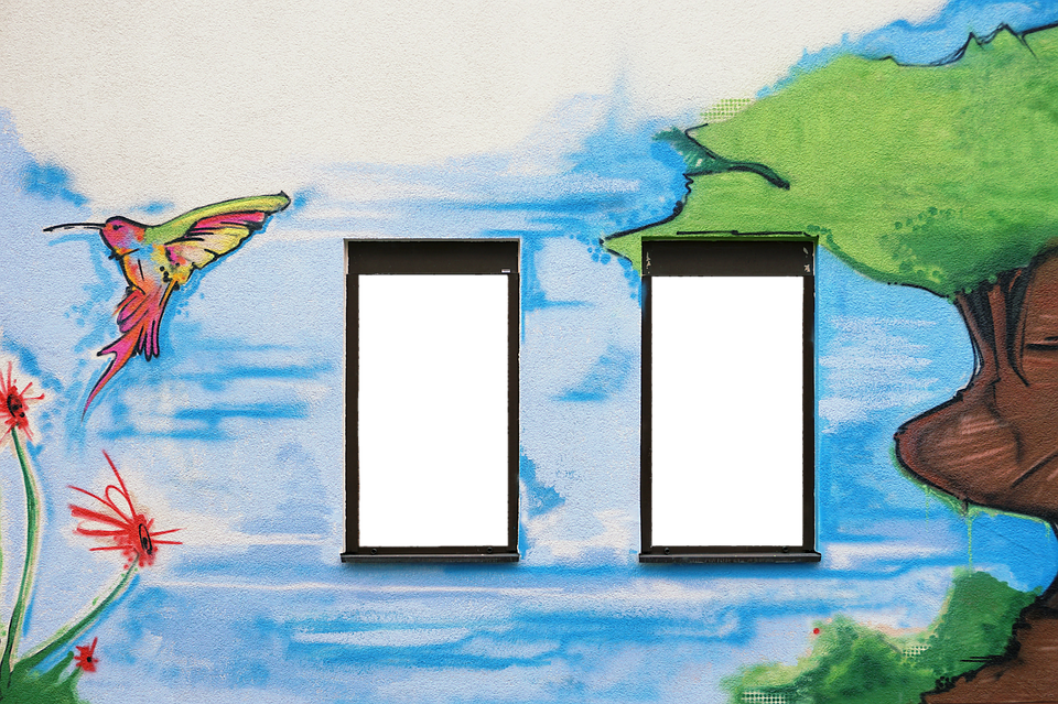 Facade, Wall, Window, Painted Wall, Wall Painting