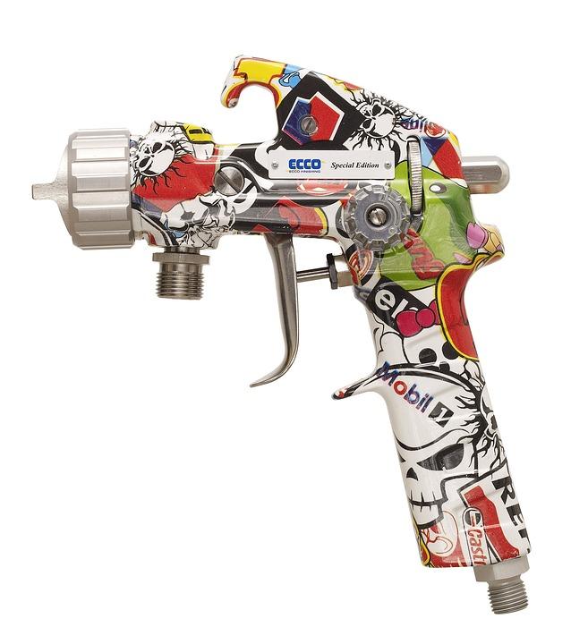 Pattern, Patterned, Spray Gun, Airbrush, Painting