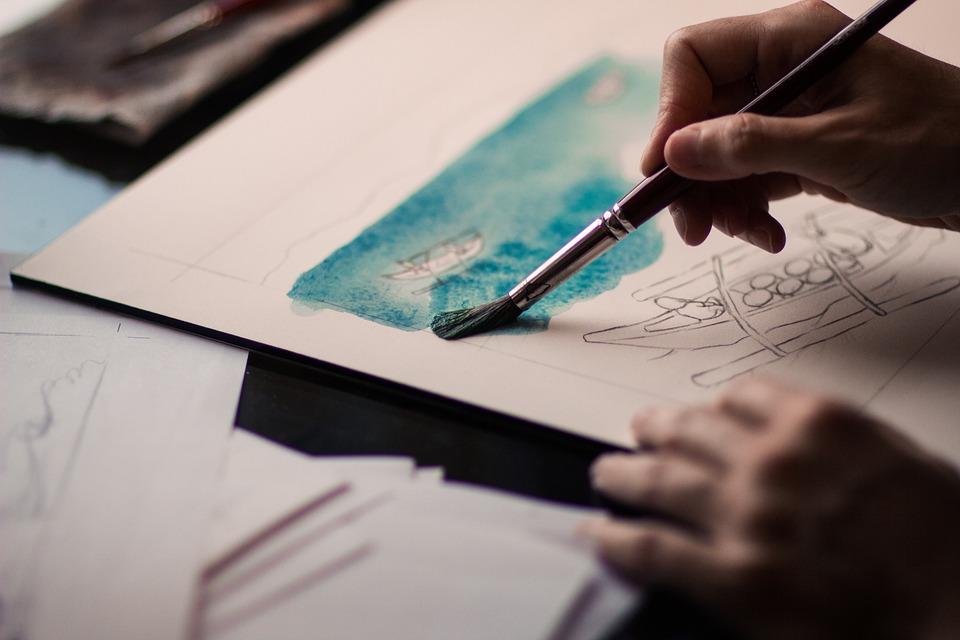 Art, Creative, Hand, Painting, Paper