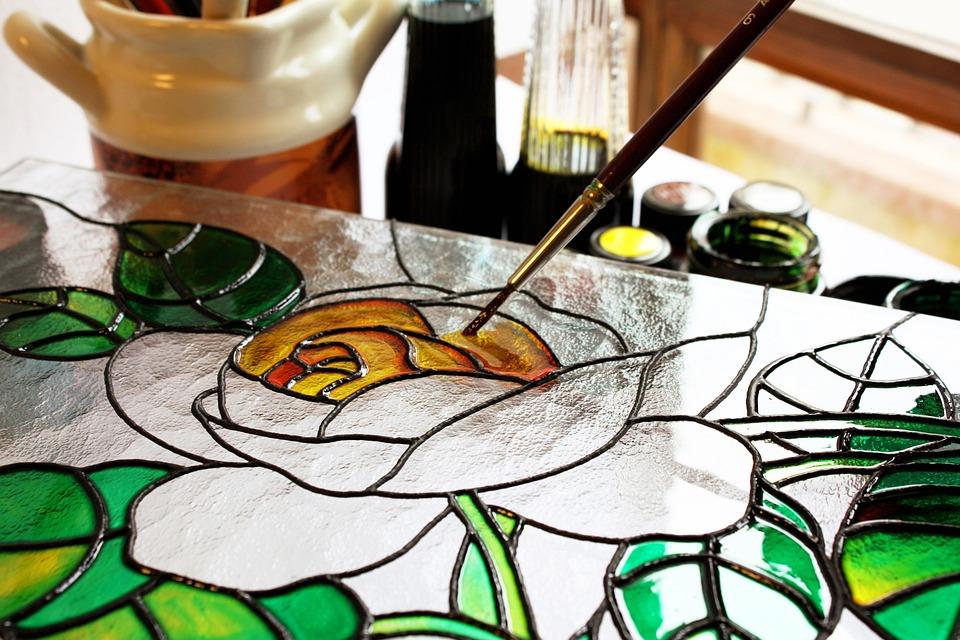 Glass, Painting, Art, Drawing, Rosa, Brush, Paint