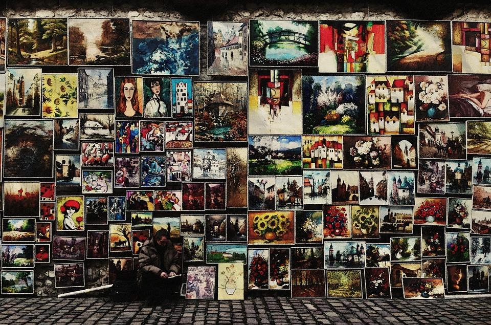 Art, Painting, Artist, City, Street, Colorful, Creative