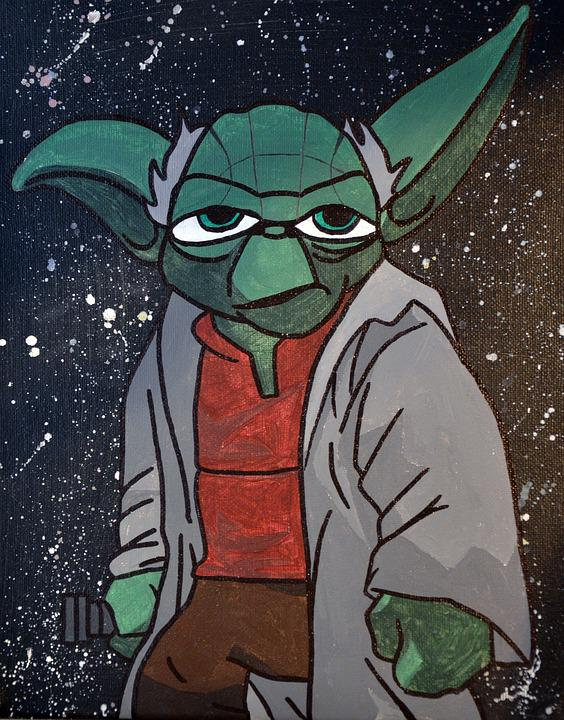 Star Wars, Yoda, Painting, Drawing, Jedi, She Makes