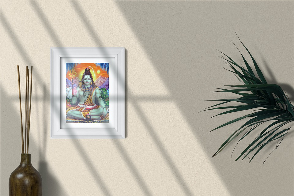 Shiva, Painting, Interior Design, Minimalist Design