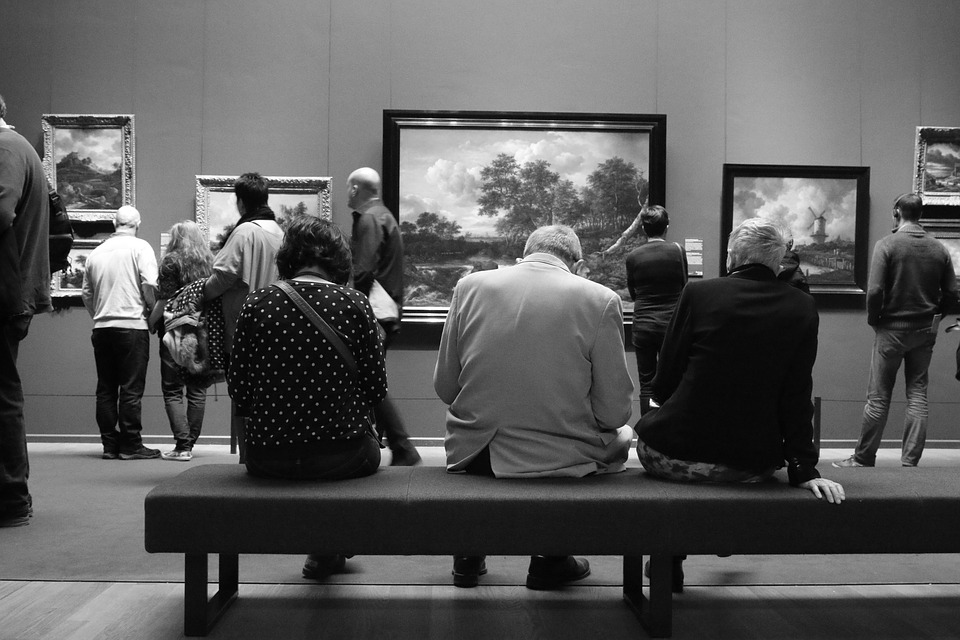 Rijksmuseum, Amsterdam, Museum, People, Bench, Painting