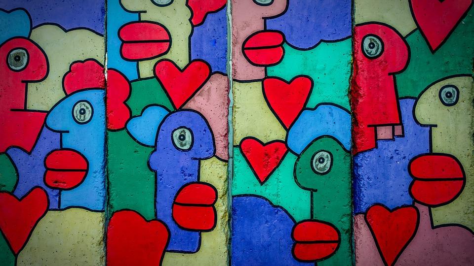 Berlin Wall, Art, Graffiti, Wall, Monument, Painting