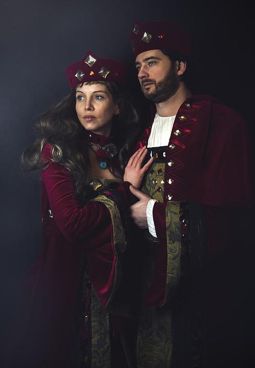 Middle Ages, King, Queen, Model, People, Couple, Pair