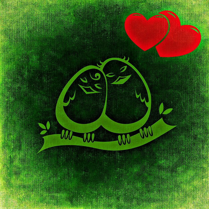 Birds, Abstract, Pair, Lovers, Couple, Sweet, Cute
