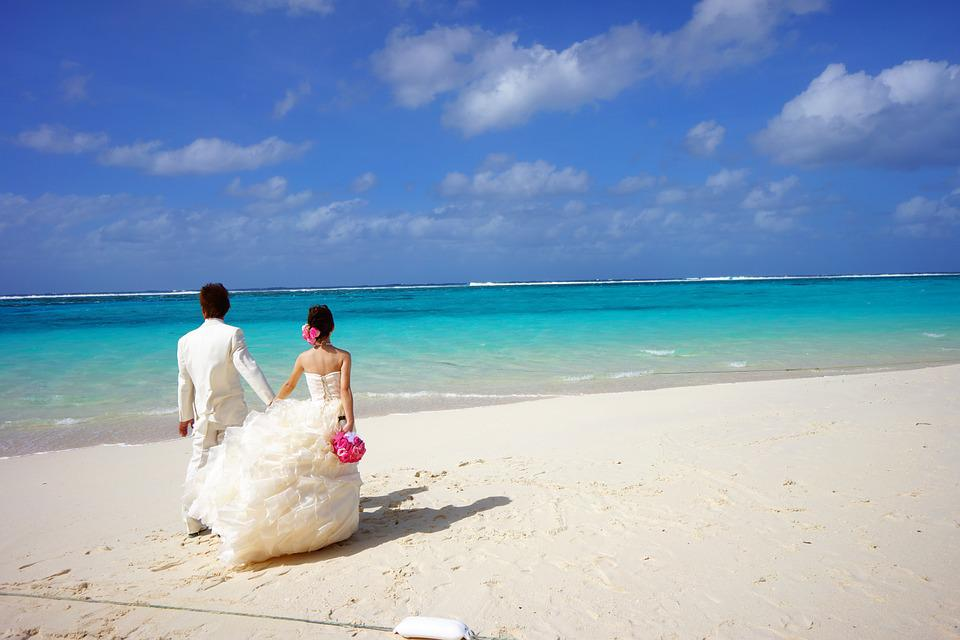 Bride And Groom, Couples, Pair, Saipan, Mahogany Island