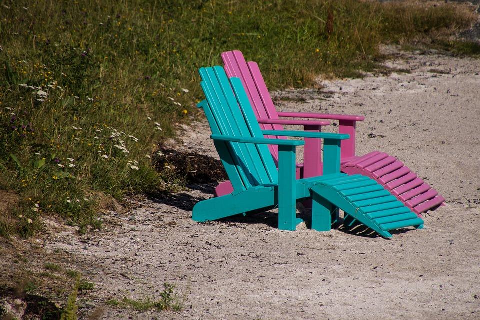 Beach, Chair, Summer, Sand, Relaxation, Rest, Pair
