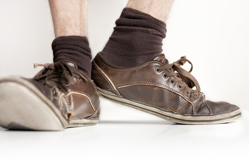 Old Shoes, Shoes, Socks, Sneaker, Leather, Foot, Pair