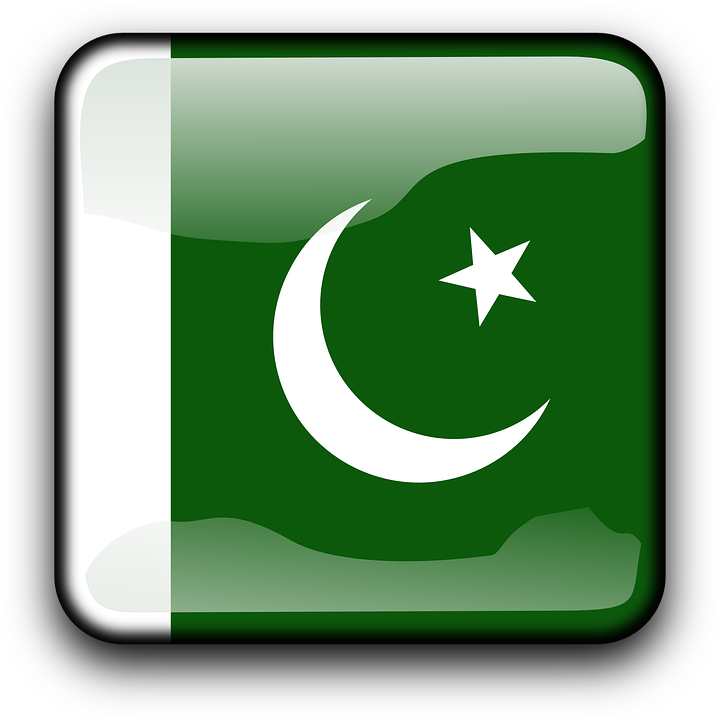 Pakistan, Flag, Country, Nationality, Square, Button