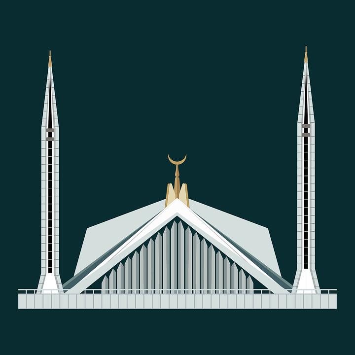 Free Photo Pakistan Islamabad Shah Faisal Masjid Margalla