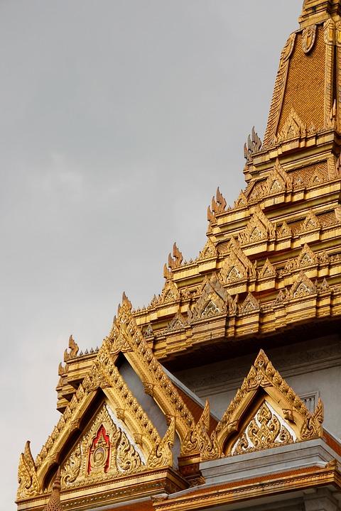 Thailand, Bangkok, Temple, Gold, Asia, Palace, Building