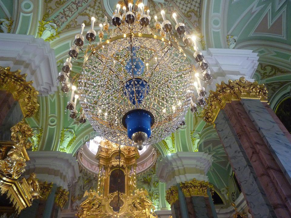 Chandelier, Catherine, Palace, St, Petersburg