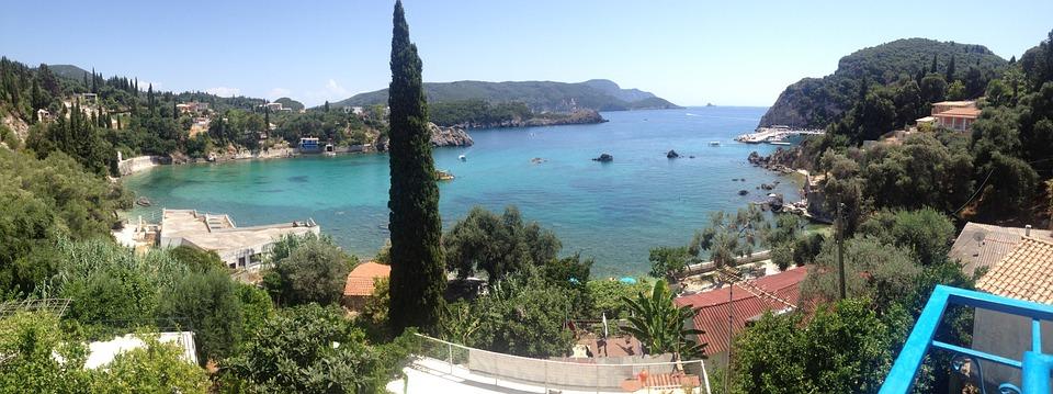 Palaiokastritis, Corfu, Greece, Blue, Sea, Island