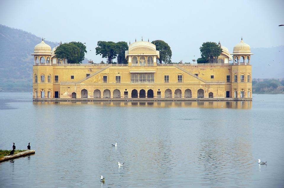 Jalmahal, Palast, Jaipur, Pinkcity, Rajasthan, India