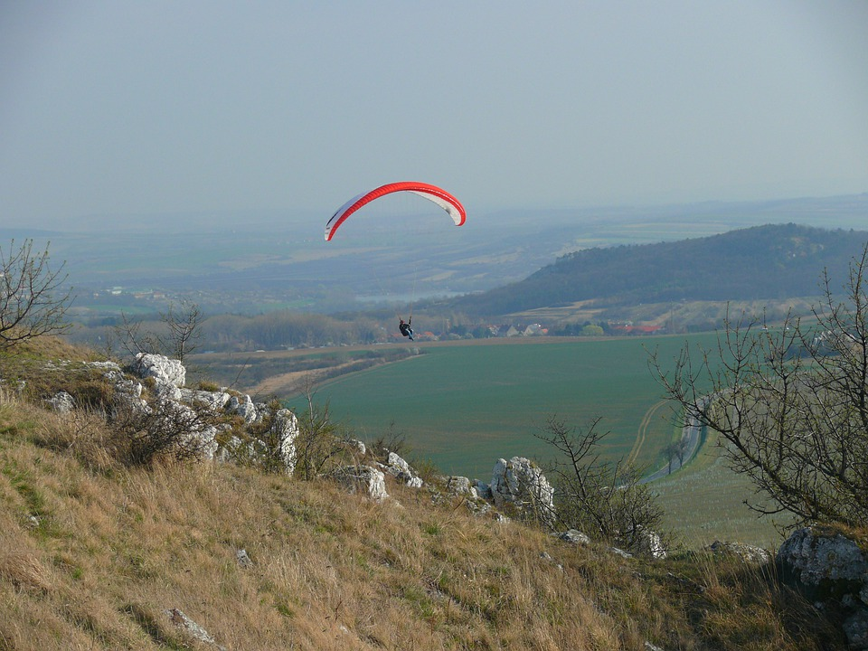 Paraglider, Czech Republic, Palava