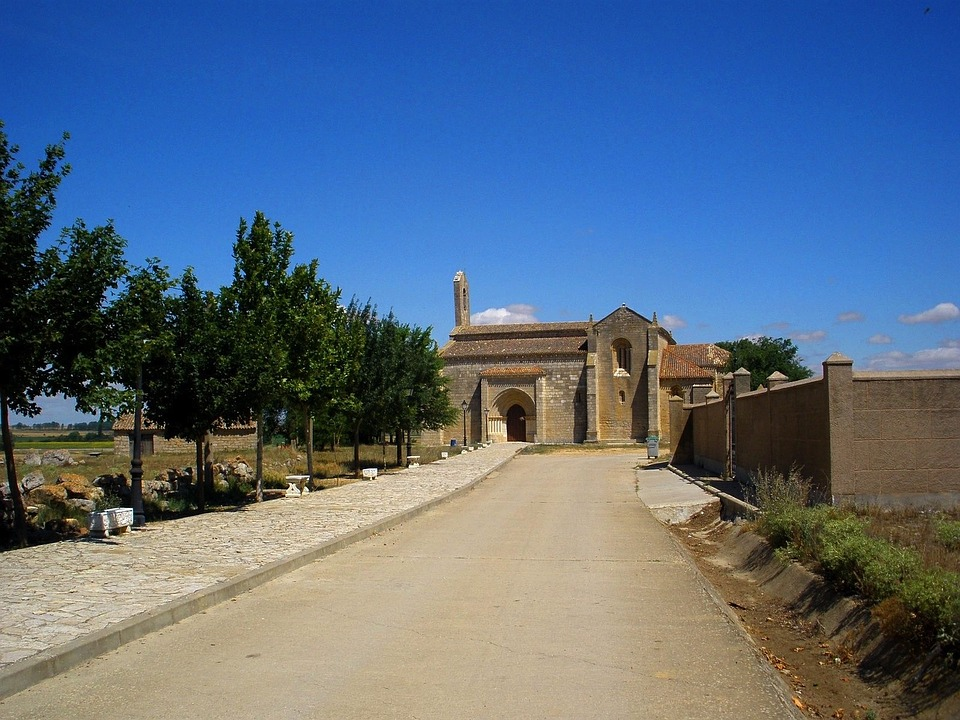 Palencia, Spain, Landscape, Church, Buildings, Exterior