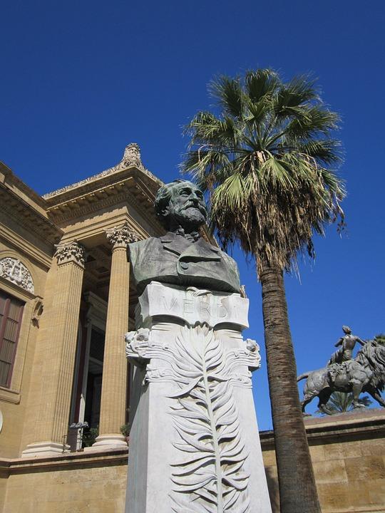 Verdi, Giuseppe Verdi, Bust, Theater Palermo, Palermo